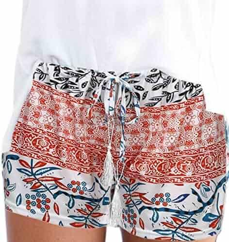4abacc451 Fanteecy Clearance Sale Women Summer Casual Beach Shorts Boho Print High  Waisted Fashion Sexy Hot Pants