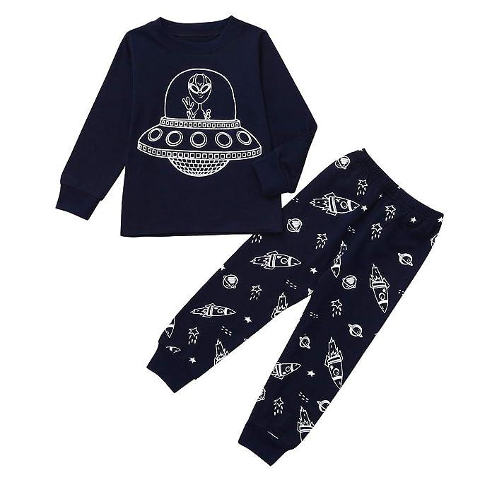 Pijamas Conjunto Bebé, LANSKIRT Bebé Niño Alien de Dibujos ...