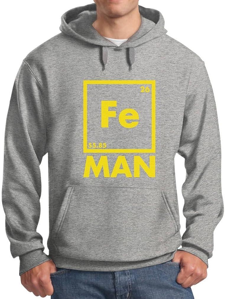 teestars–hierro Fe hombre–Funny Chemistry Periodic Element sudadera con capucha