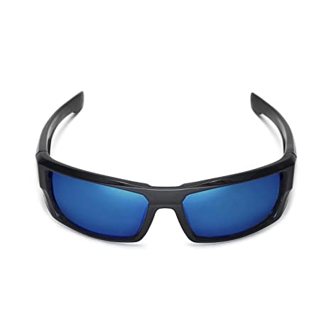 9a0c5a0a60 Amazon.com  Walleva Polarized Fire Red + Ice Blue Replacement Lenses for Spy  Optic DIRK  Clothing