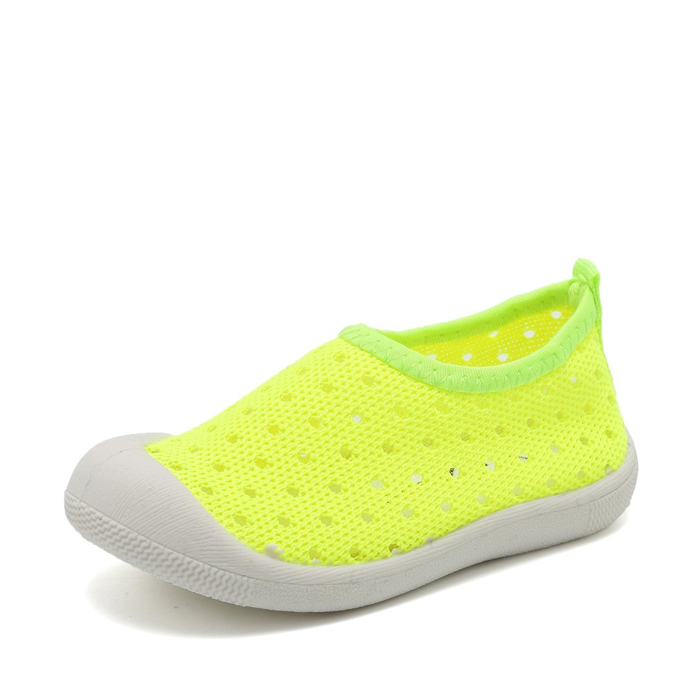 Fantiny Kids Slip-On Shoes Boys Girls Water Shoes Casual Breathable Sneakers for Walking Running Sport Pool Beach (Toddler/Little Kid) U118SWX024,LH.Green,17