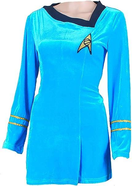 Amazon.com: WonderPlay Star Trek Cosplay TOS - Vestido de ...