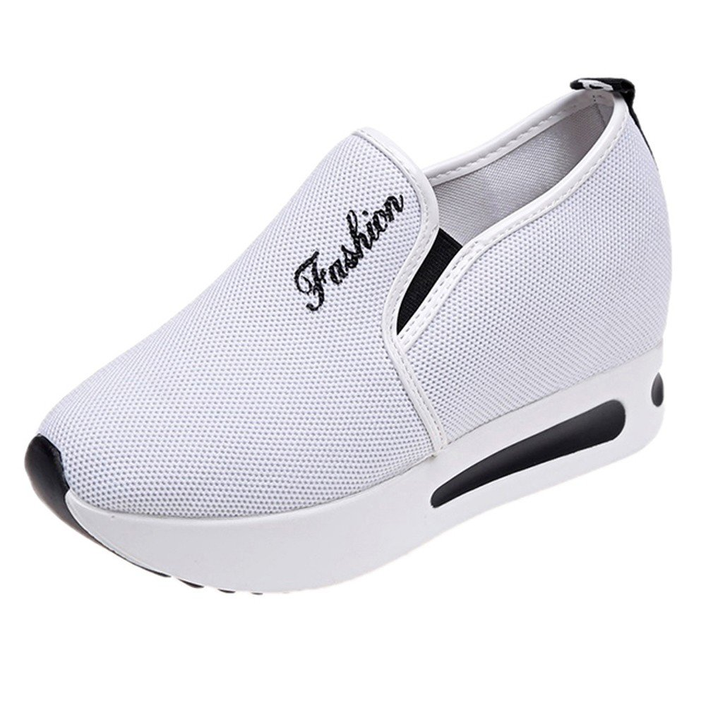 Chaussures 7256 Femme, Yesmile Augmentation Plate-Forme Nette Femmes Chaussure Femmes Chaussures décontractées Respirant Maille Pente Chaussures épaisses Plate-Forme Chaussures Blanc 5e0b4a6 - boatplans.space