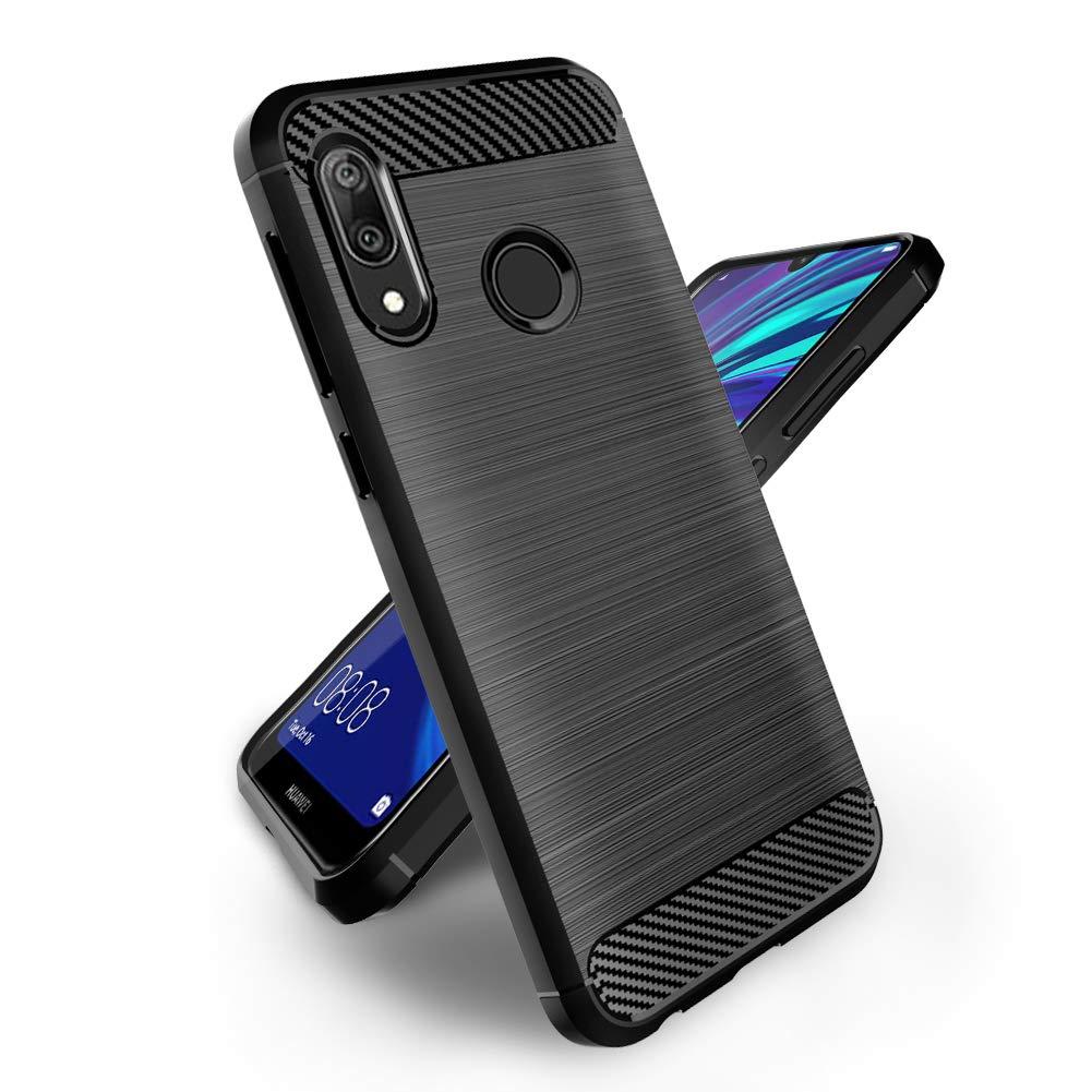 Coque-Etui-Housse-Silicone-brossee-Fibre-de-carbone-Noir-Protection-Huawei miniature 55