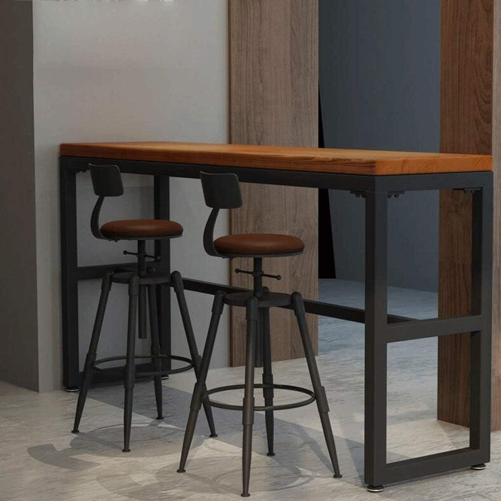 JFFFFWI Sgabelli da Bar 68-90 cm Tavolo da Bar in Ferro Creativo Sedia da Bar Sgabello da Bar Sgabello da Bar in Legno Vecchio retr/ò Sgabello Alto Sgabelli da Bar Colore: Bordo, Dimensione: A