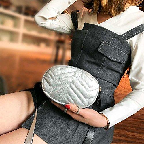 para mujer de hombro Negro Bolso Widewing al Plata Negro PU xwgqtXy7ZY