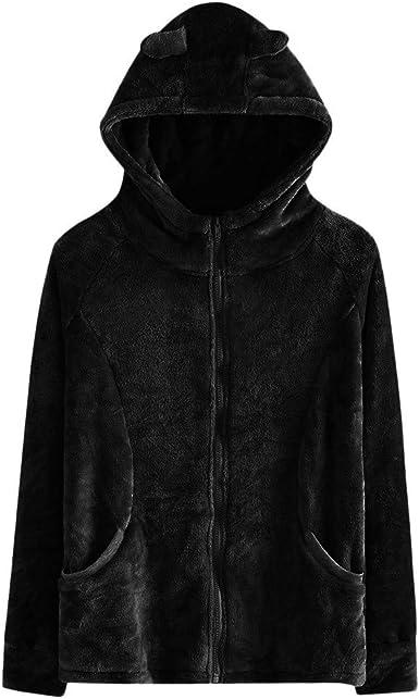 Women Ladies Black Velour Soft Warm Faux Fur Sweatshirt Jumper Pullover