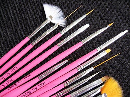 15pcs-acrylic-painting-uv-gel-pen-tips-nail-art-brushes-tools-kit-design-set