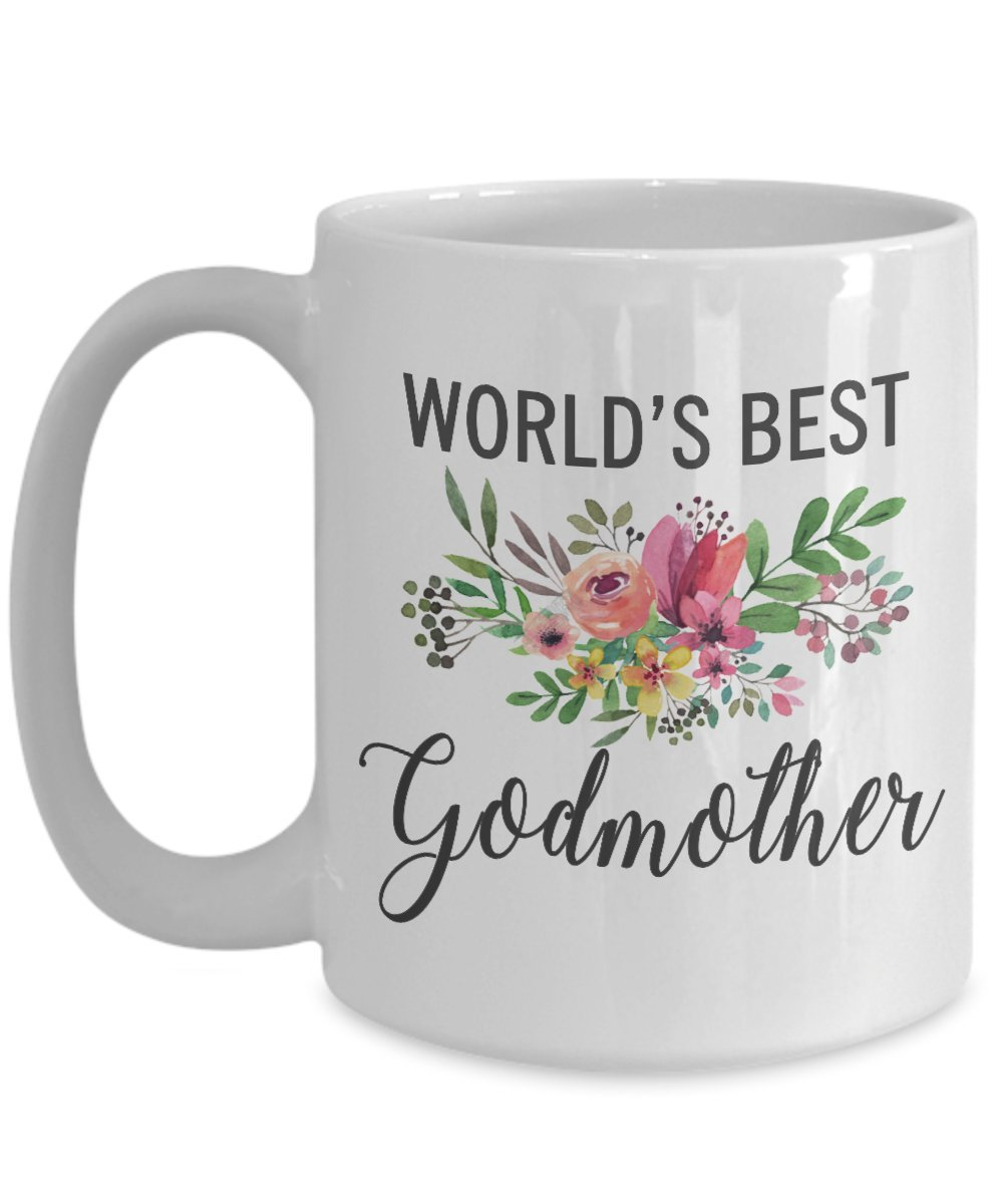 Worlds Best Godmother Mug – 面白いギフトfor most awesome Godmother Ever – Thank You Appreciationコーヒーカップ 15oz GB-2588668-43-White 15oz ホワイト B07BNXTXPF