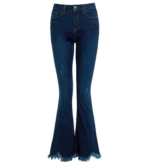 SS7 femmes Slim Fit Jean brut ourlet évasé JEANS jeans bootcut taille 6 8  10 12 dae75bd99e95