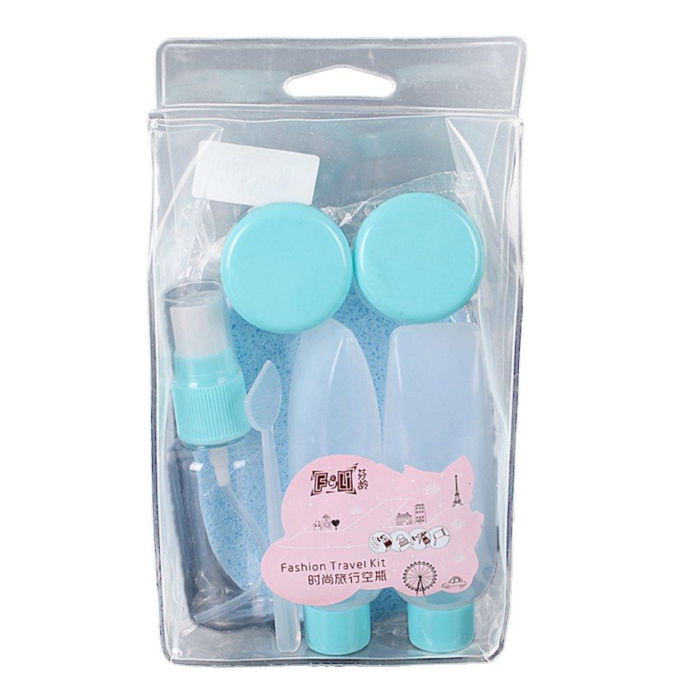 8 piezas de champú rellenable cosmético portátil spray contenedor de plástico viaje Kit Rycnet