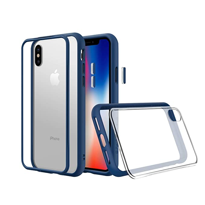 save off 9c200 e5fb3 RhinoShield Modular Case for iPhone Xs [Mod NX] | Customizable Shock  Absorbent Heavy Duty Protective Cover - Compatible w/Wireless Charging &  Lenses - ...