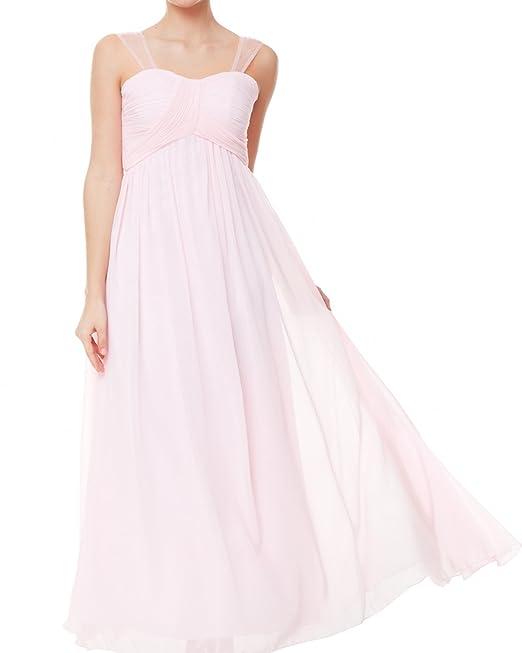 ZAFUL Elegante Vestidos Largos Fiestas Bodas Falda sin Mangas Para Mujer Rosa