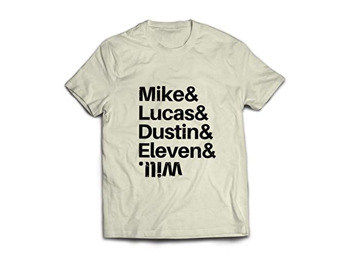 Camiseta Blanca BASADA EN Stranger Things Mike Lucas Dustin Will ...
