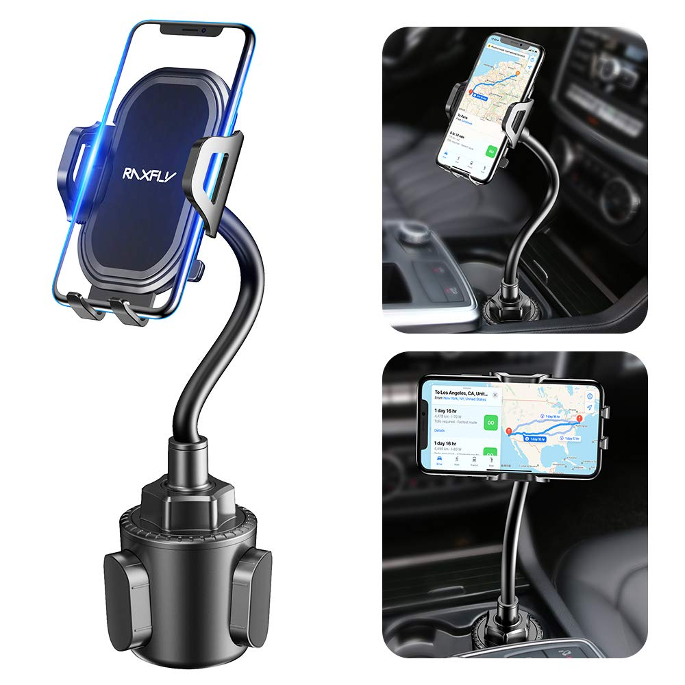 Cup Car Phone Holder for Car – RAXFLY Hands Free Adjustable Long