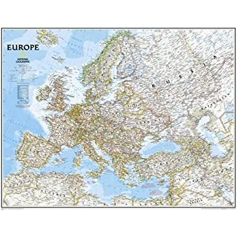 Amazon Com Extra Large Europe Wall Map Political