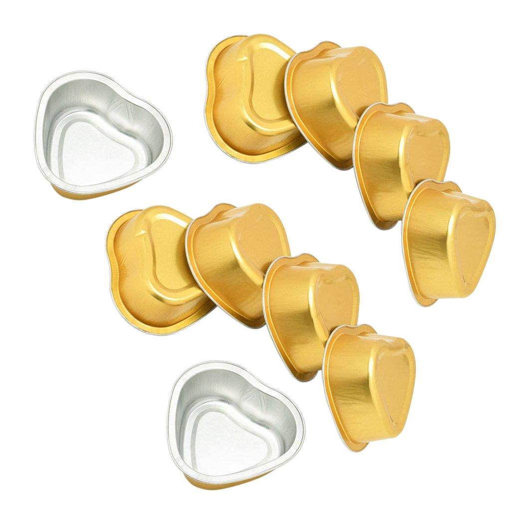 MagiDeal Aluminum Foil Hard Wax Beans Small Bowl Hair Removal Depilatory Tools 10 Pieces