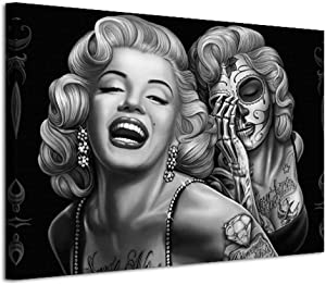 Pangoo Art Marilyn Monroe Poster Wall Decor Print Canvas Painting Picture Wall Art for Home Office Decorations 12 x 16 Ready to Hang