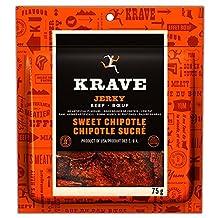 Krave Sweet Chipotle Beef Jerky, 75-Gram