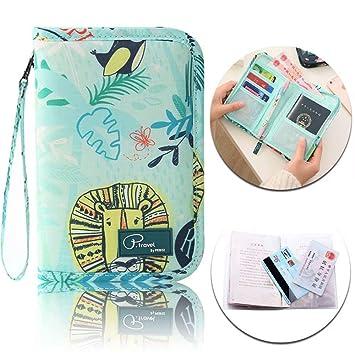 a8edc4b363fd P.travel Passport Wallet, Waterproof Travel Holder Document Cards ...