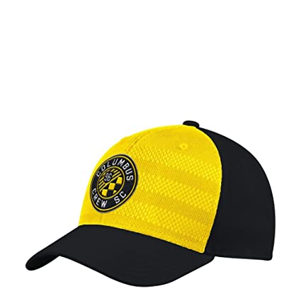 adidas Columbus Crew Hat Authentic Structured Flex Fitted Hat (L XL) 8af7a1604230
