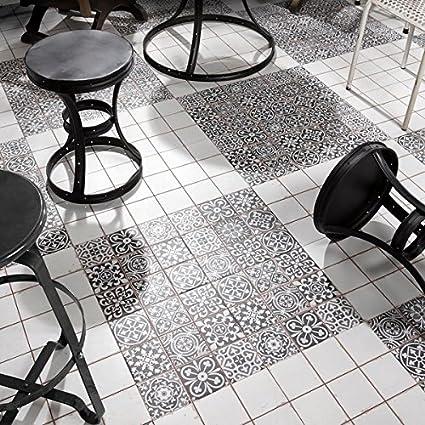 SomerTile Xinch Faventia Nero Ceramic Floor And Wall Tile Case - 13x13 white ceramic floor tile