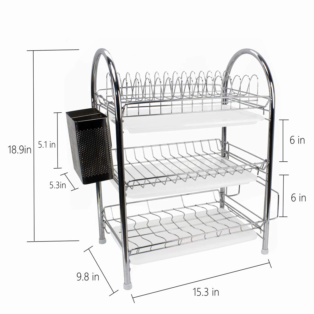 40 Discount On Dish Drying Rack Stainless Steel 3 Tier Dish Rack