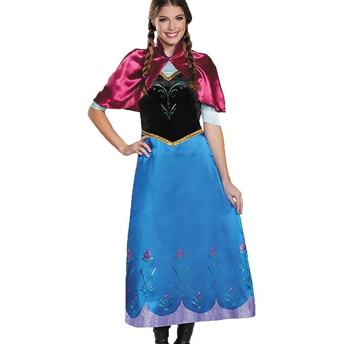 Cosfun Halloween Cartoon Costume Anna Costume Dress With Adult