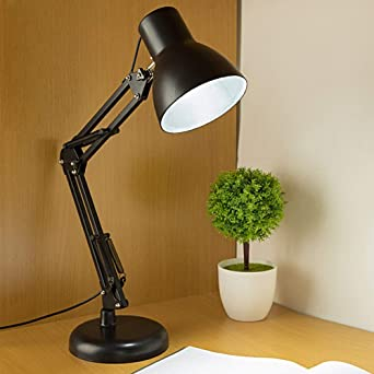 Swing Arm Table Lamps Metal Structure Desk Lights Plug In Led Adjustable Decorative Lighting For Office Bedroom Living Room Dining Room Study Home Lamps Amazon Co Uk Lighting