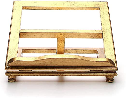 Holyart Atril de Mesa Madera Hoja de Oro, 20 x 25 cm (7.87 x 9.84 ...