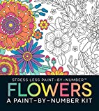 img - for Stress Less Paint-By-Number Flowers: A Paint-By-Number Kit book / textbook / text book