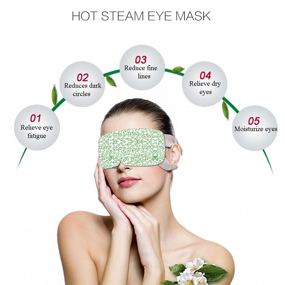 BestFire Hot Steam Eye Mask Warm Eye Patch Steam Eye SPA Mask Relieve Eye Tiredness Remove Eye Dark Circles,Lavender Fragrance- 2 Packs(10 Pcs) by BestFire® (Image #2)