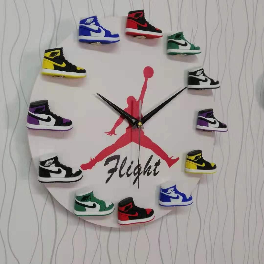 Air Jordan 3D Sneaker Clock with Hand Painted 1-12 Mini Sneakers – Wall Mounting Air Jordan Clock Mini Sneaker Clock in White Color - Sneaker-Head Style Jordan Shoe Clock for Hypebeasts