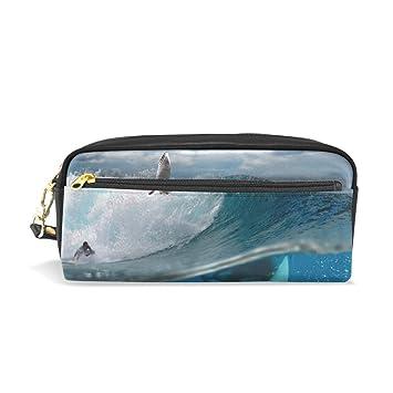 bennigiry (una historia de océano con surfistas y tiburones grandes tela con cremallera Estuche - escuela maquillaje: Amazon.es: Oficina y papelería