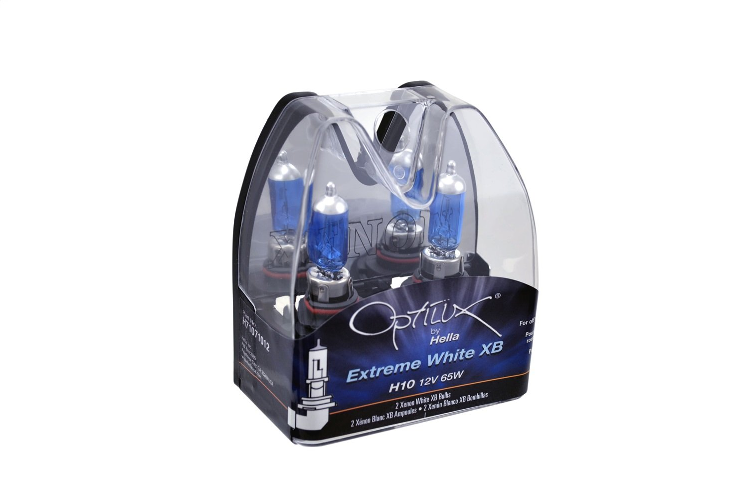 Amazon.com: HELLA H71071012 Optilux XB Series H10 Xenon White Halogen Bulbs, 12V, 65W 2 Pack: Automotive