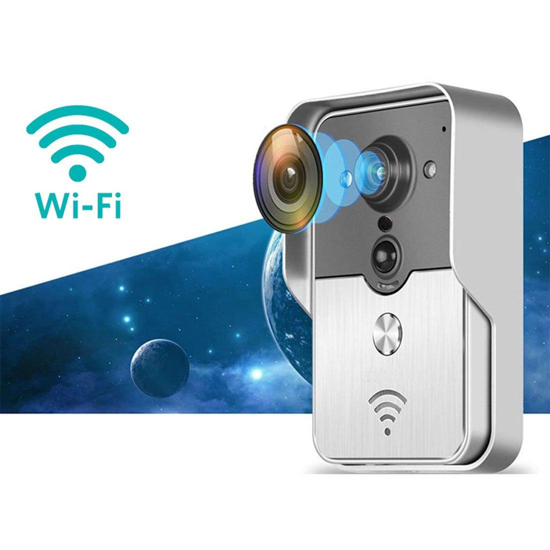 Intercomunicador videoportero inalámbrico WiFi Toguard, detector de movimiento por infrarrojos, hermético, admite App iOS y Android, apertura desde teléfono ...