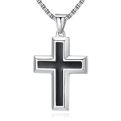Amazon.com: Molike - Collar con colgante de cruz simple de ...
