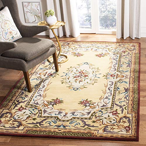 Safavieh Empire Collection EM822A Handmade Traditional European Gold Premium Wool Area Rug 6 x 9