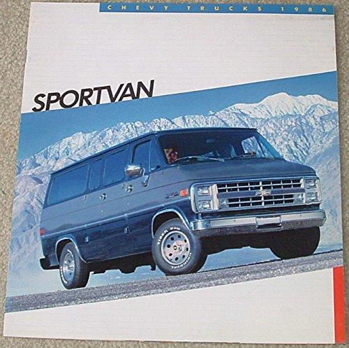 1986 Chevrolet Sportvan Brochure G10 G20 G30 Van