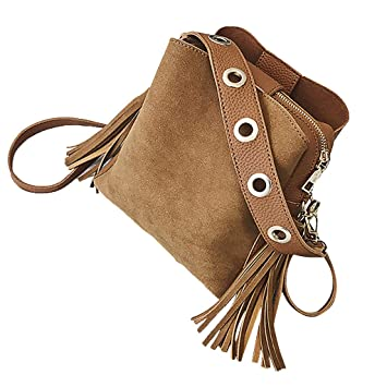 0e3bc07acf2f YJYDADA Women Vintage Bucket Bag Tassel Messenger Retro Shoulder ...