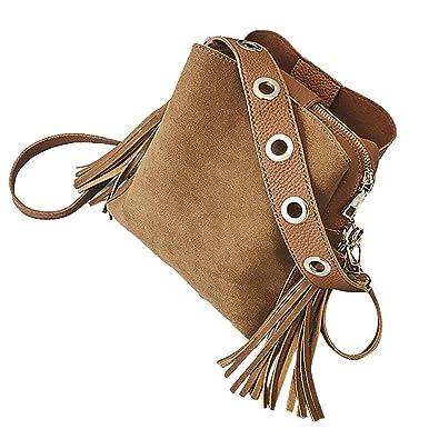 Linkay Neuer HeißEr Verkauf Mode Wild Damen Tasche Vintage Eimer Tasche Handtasche UmhäNgetasche Quaste Retro Rucksack