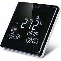 WELQUIC Thermostat Raumtemperaturregler Touchscreen Raumthermostat LCD Display Digital Smart Programmierbares Heizkörper-Thermostat Fußbodenheizung Wasserheizung Wandheizung
