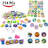 Easter Crafts Assortment Kit with 500 Easter Stickers, 172 Easter Shapes Adhesive, 36 Easter Theme Temporary Tattoos and 6 Easter Stampers (over 700 pieces)