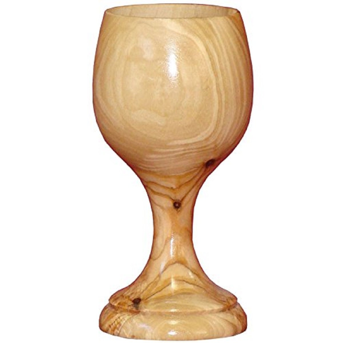 Large Communion Wine Goblet - Chalice Olive Wood (6 Inches Large) by Bethlehem Gifts TM