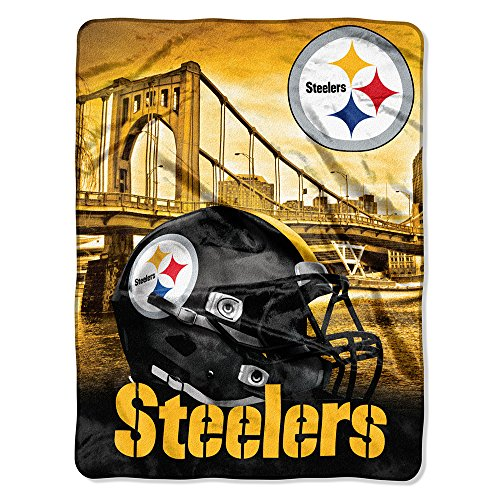 The Northwest Company NFL Pittsburgh Steelers Silk Touch Raschel Super Plush Throw, One Size, Multicolor
