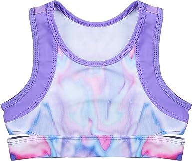 Girls Stretchy Neon Purple Vest Top 9-10 Years Various Dance Gymnastics Children
