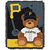 The Northwest Company MLB Field Bear Woven Jacquard Baby Throw
