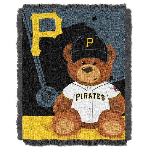 (The Northwest Company MLB Pittsburgh Pirates Field Bear Woven Jacquard Baby Throw, 36