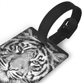 7c5ede9816de Amazon.com: BCOWBONEOWGDF Tiger Funny Mans Luggage Tag for Baggage ...