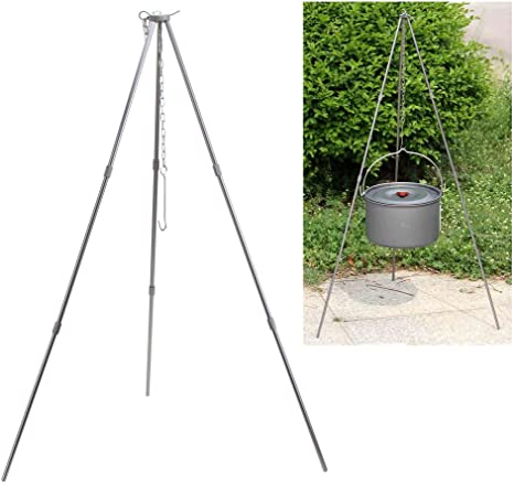 Camping Outdoor Cooking Campfire Alloy Tripod Picnic Pot Fire Grill Oven Hanger
